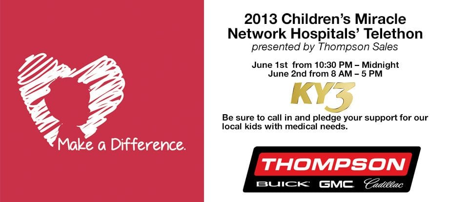 2013 Children's Miracle Network Hospitals' Telethon presented by Thompson Sales
