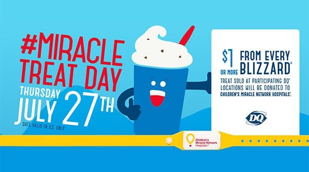 Miracle Treat Day – Thursday, July 27, 2017