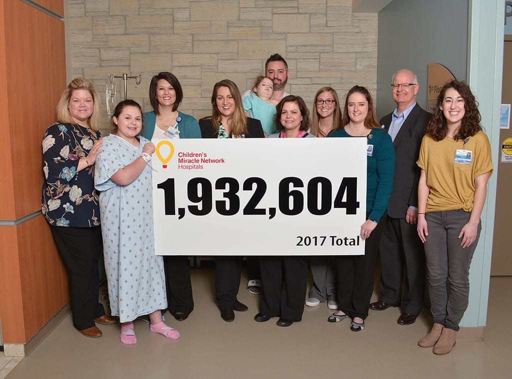2017 a record-setting year for Children's Miracle Network Hospitals at CoxHealth