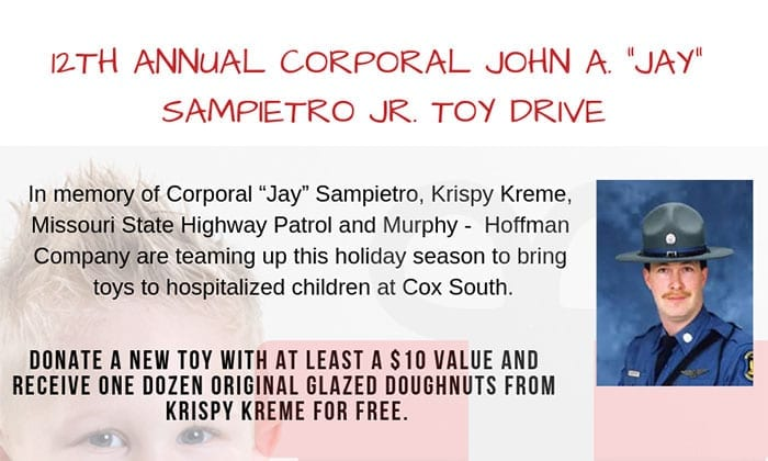 """12th Annual Corporal John A. """"Jay"""" Sampietro Jr. Toy Drive Kickoff"""